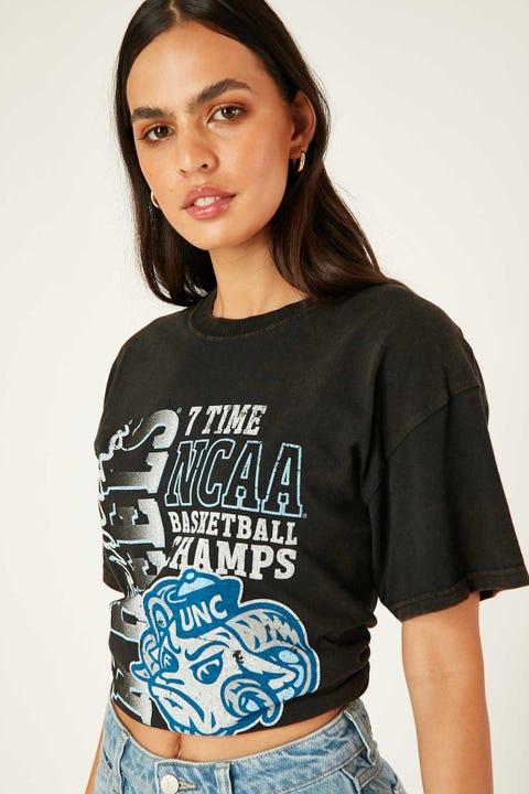 Ncaa UNC 7x Champ Graphic Tee Washed Black
