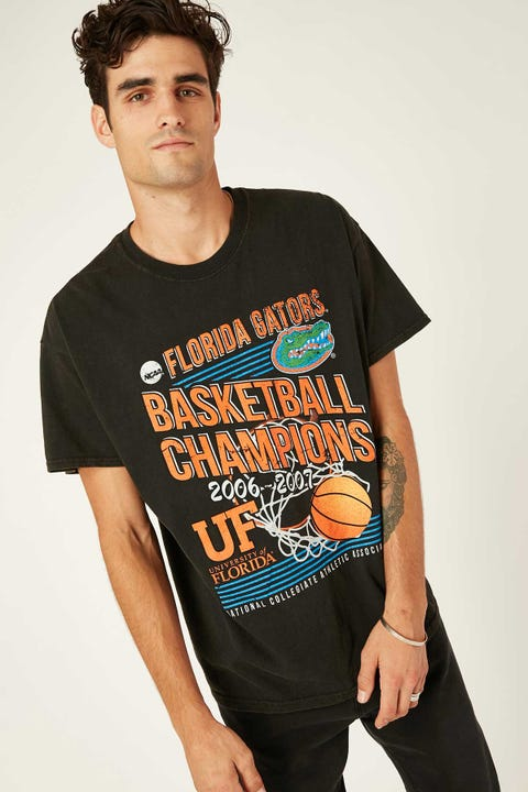 Ncaa NCAA Vintage Courtside Tee Washed Black