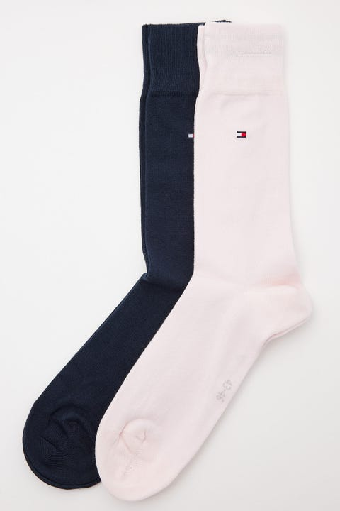 Tommy Jeans Classic Sock 2 Pack Pink/Navy
