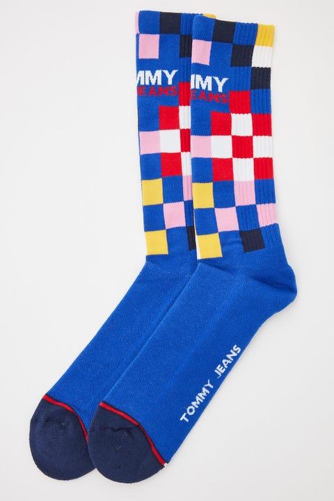 Tommy Jeans Racercheck Sock Dark Blue