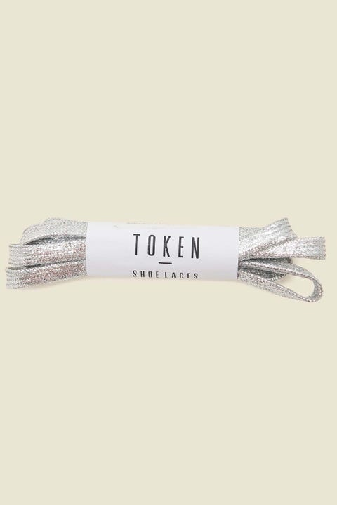 Token Cool Flat Shoe Lace Silver
