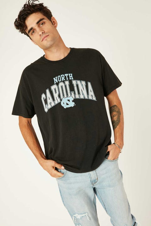 Ncaa NCAA North Carolina Vintage Arch Tee Washed Black