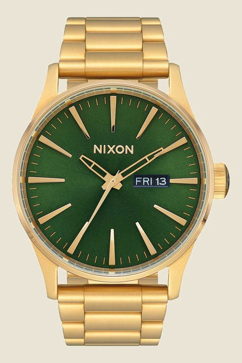 Nixon Sentry SS Gold/Green Sunray/HP Gold