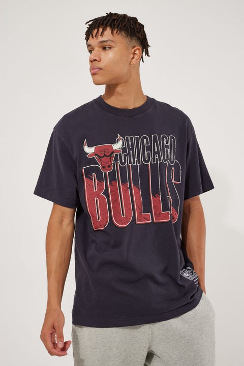 Mitchell & Ness Vintage Bulls Scribble Tee Faded Black