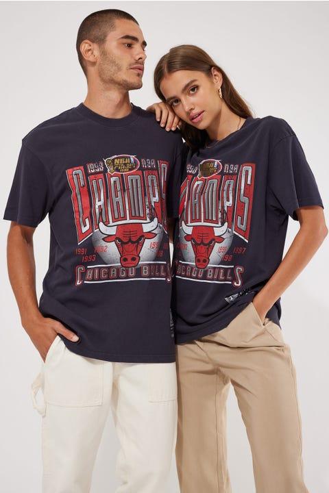 Mitchell & Ness Vint Winner Takes All Bulls Tee Faded Wash