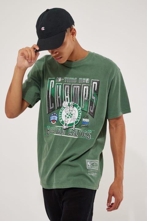 Mitchell & Ness Vint Winner Takes All Celtics Tee Hunter Green