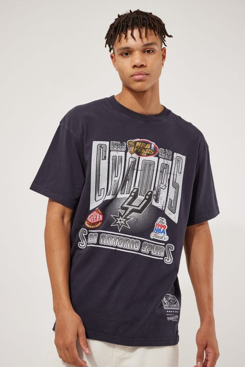 Mitchell & Ness Vint Winner Takes All Spurs Tee Faded Black
