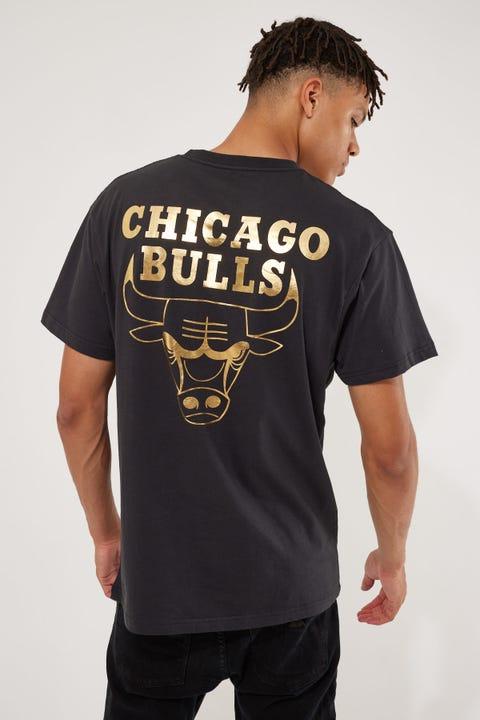 Mitchell & Ness Team Foil Logo Bulls Tee Faded Black