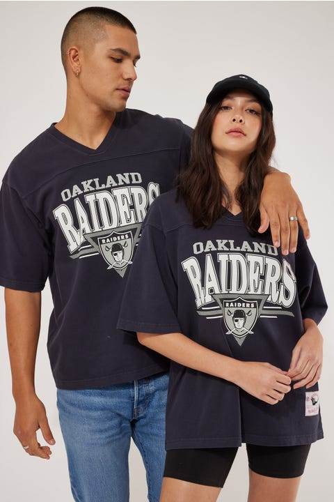 Mitchell & Ness Off Field TB OS Raiders Tee Faded Black