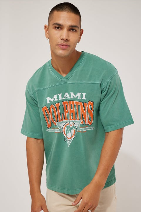 Mitchell & Ness Off Field TB OS Dolphins Tee Teal