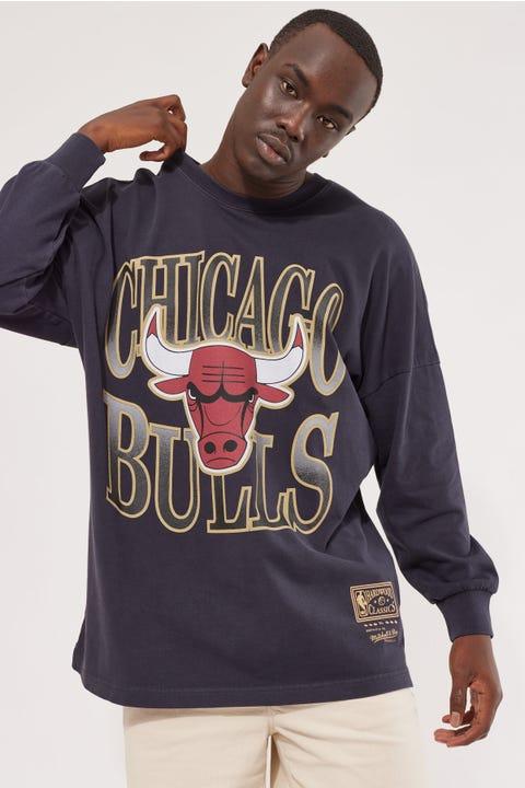Mitchell & Ness Vintage Bulls B2B OS LS Tee Faded Black