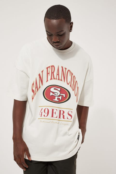 Majestic Athletic Vintage NFL Arch 49ERS Tee Cool White