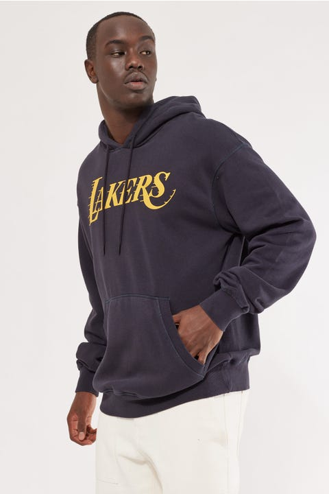 Mitchell & Ness Lakers Vintage Logo Hood Faded Black