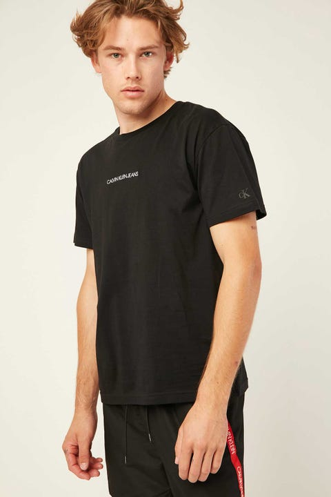 CALVIN KLEIN CKJ Institutional Chest Logo Tee Black