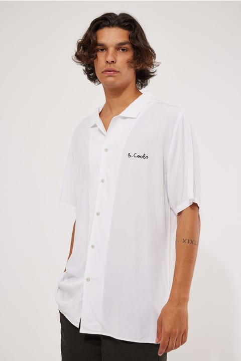 Barney Cools Holiday Camp Collar Shirt White