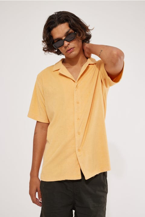 Barney Cools Holiday Terry Shirt Sand