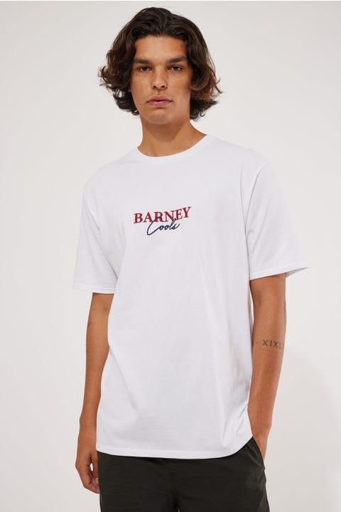 Barney Cools Script Embro Tee White