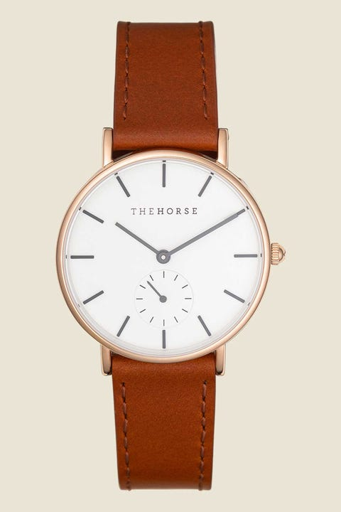 THE HORSE The Classic Rose Gold/White/Walnut