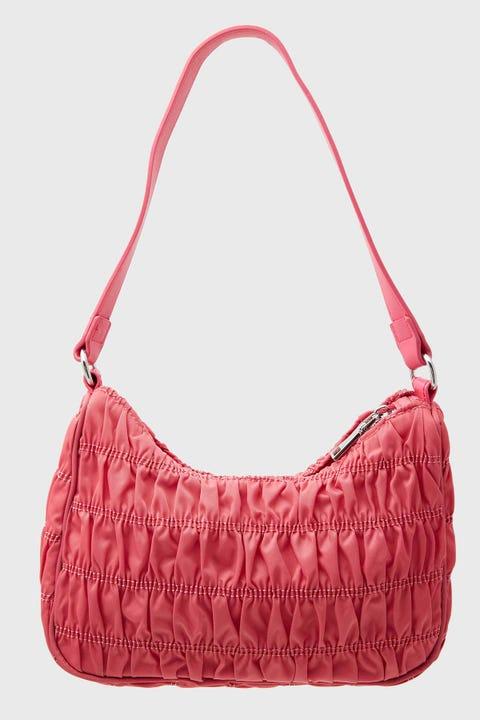 TOKEN Ruched Shoulder Bag Pink