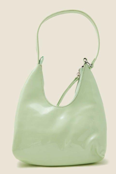 TOKEN Riviera Patent Shoulder Bag Green