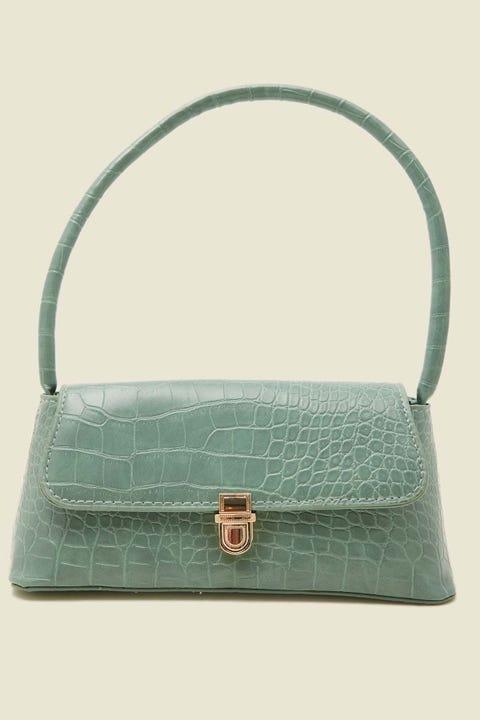 TOKEN Croc Vintage Shoulder Bag Green