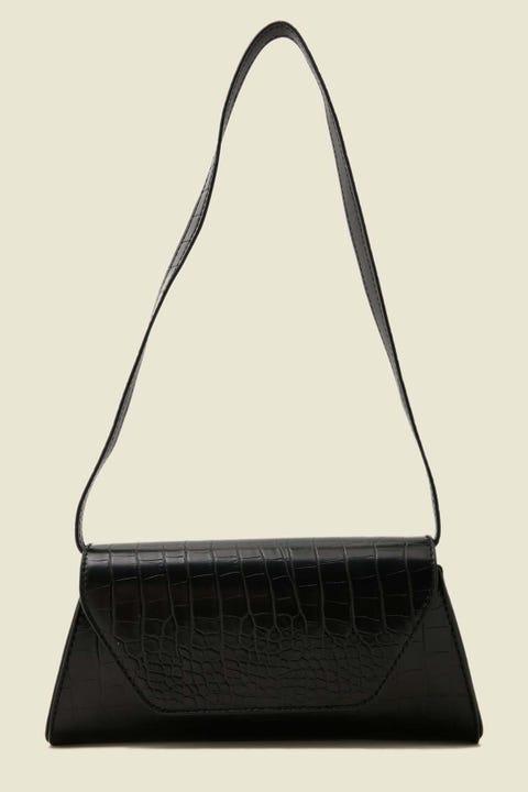 TOKEN Croc Shoulder Bag Black