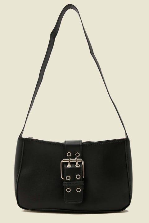 TOKEN Buckle Up Shoulder Bag Black