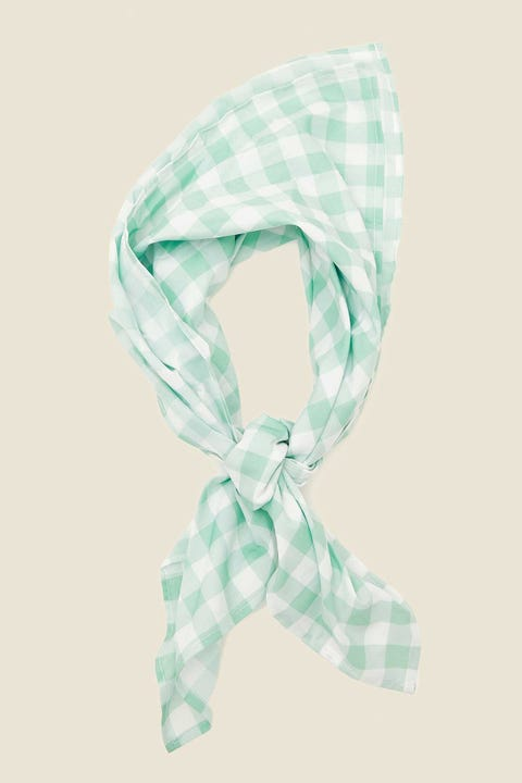 TOKEN Sicily Head Scarf Green Check