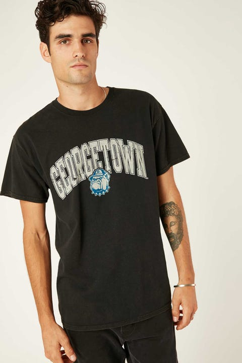 Ncaa NCAA Georgetown Vintage Arch Tee Washed Black