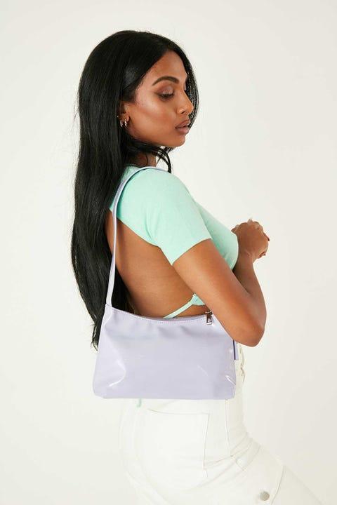 Token Patent Shoulder Bag Lilac