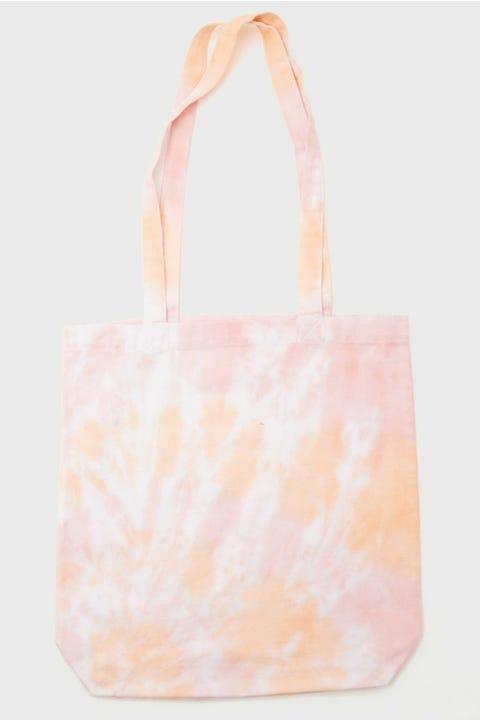 Token Tie Dye Tote Bag Peachy Pink