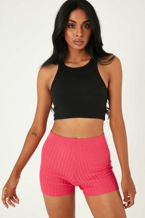 Perfect Stranger Havana Knit Short Pink