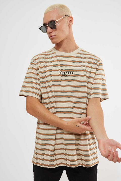 Thrills Palmed Thrills Stripe Merch Tee Thrift White
