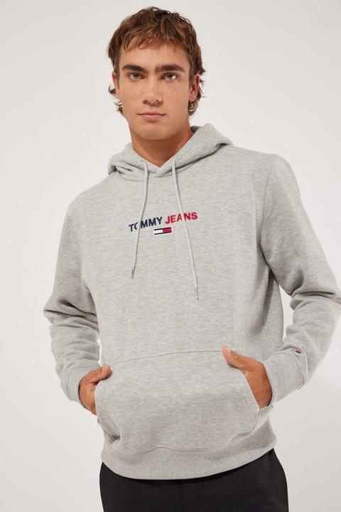 Tommy Jeans TJM Linear Hoodie Grey