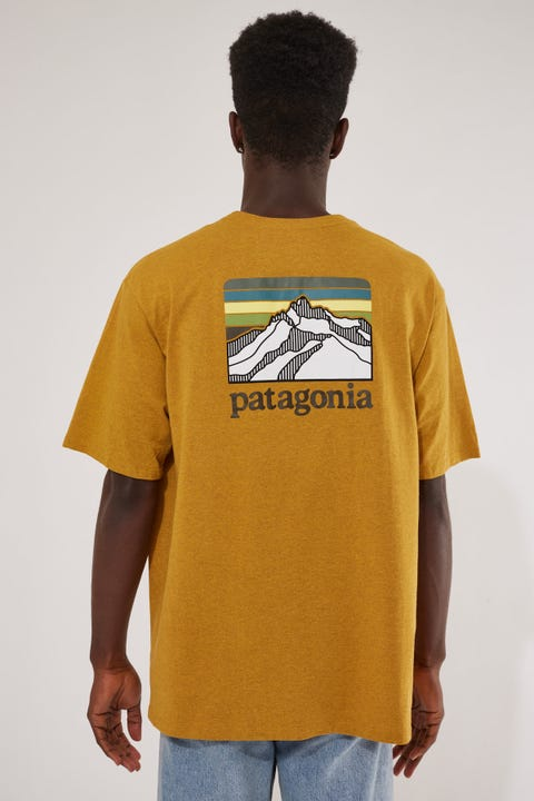 Patagonia M's Line Logo Ridge Pocket Responsibility Tee Buckwheat Gold
