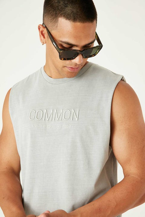 Common Need East Muscle Tank Grey