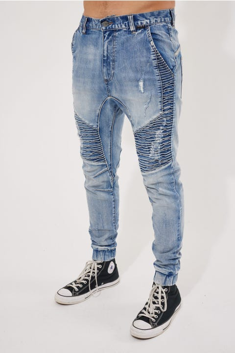Kiss Chacey Zeppelin Denim Jogger Worn'N'Torn