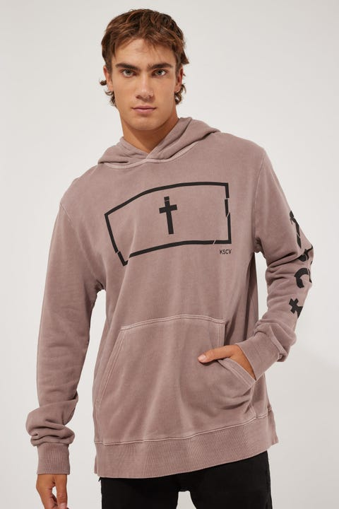 Kiss Chacey Norco Step Hem Hoodie Pigment Mauve