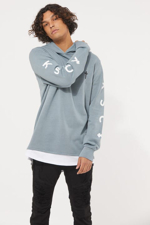 Kiss Chacey Exchange Hooded Layered Cape Back Sweater Pigment Lead