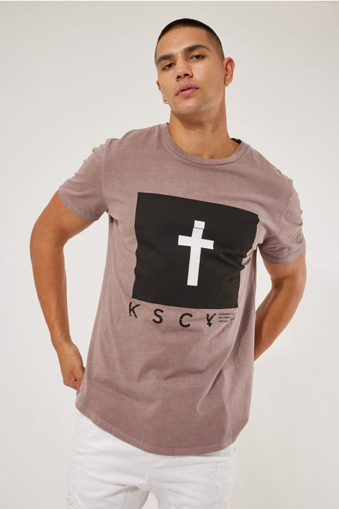 Kiss Chacey Grafton Dual Curved Tee Pigment Mauve