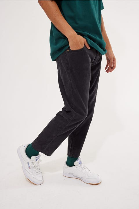 Rolla's Relaxo Chop Cord Pant Black
