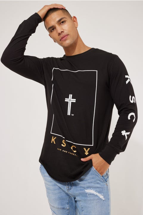 Kiss Chacey Inferno Dual Curved LS Tee Jet Black