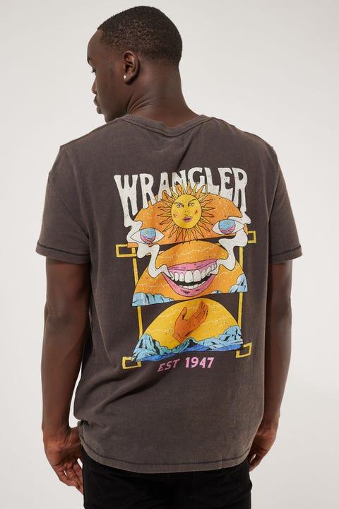 Wrangler Loose Lips SS Tee Worn Black