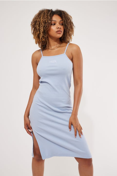 Stussy Mission Rib Midi Dress Pale Blue