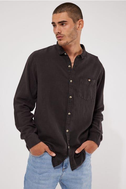 Rolla's Men At Work LS Hemp Shirt Black