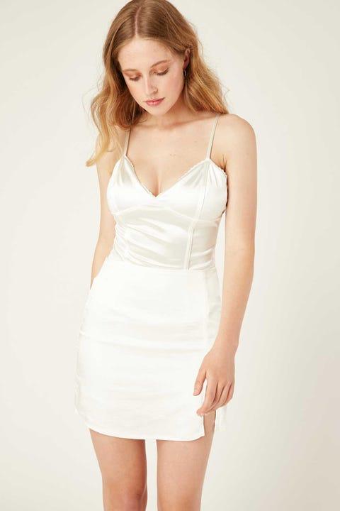 LUCK & TROUBLE Moonlight Bodysuit White