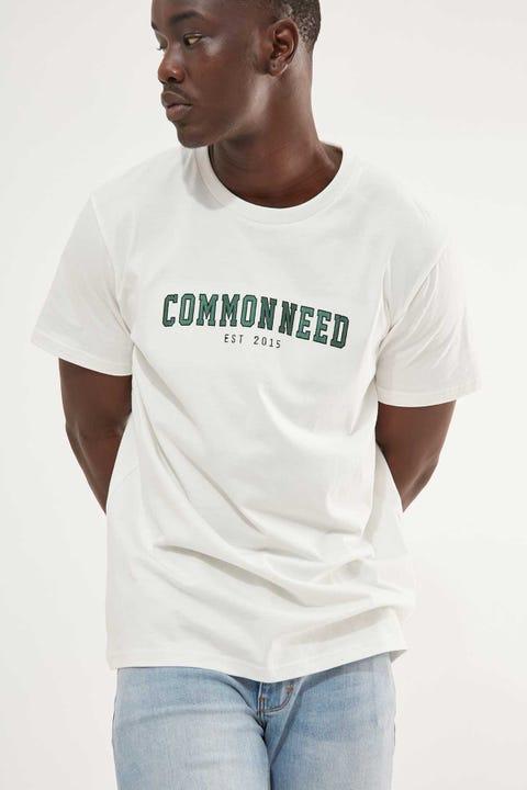Common Need Collegiate Tee Bone White