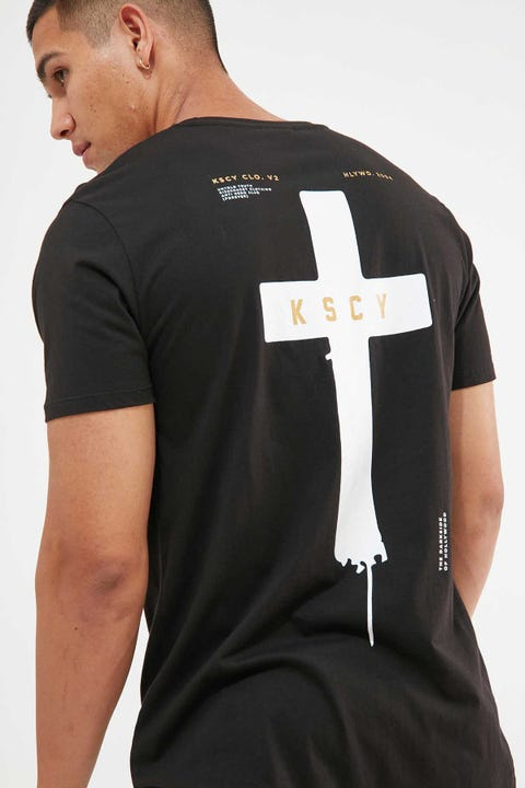 KISS CHACEY Darkness Dual Curved Tee Jet Black