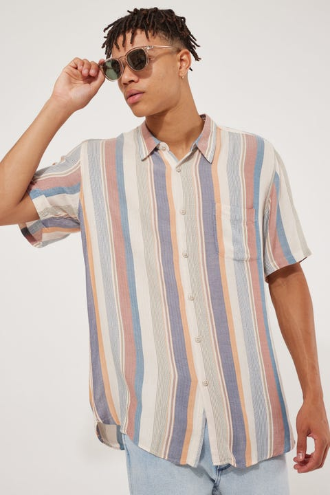 Barney Cools Holiday 90's Stripe SS Shirt Multi 90's Stripe
