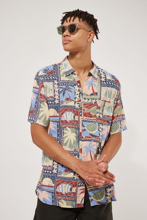 Barney Cools Holiday Vacation SS Shirt Multi
